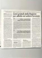 LA FEDELTA' DI FOSSANO - Corsi gratuiti della Regione per attività nel settore forestale.